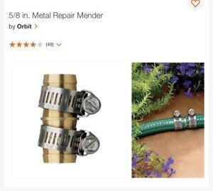 """Orbit Male Metal Mender 5/8"""" Garden Hose Repair New"""