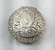 Wonderful Gorham Sterling Repoussed Hinged Round Box - 2""