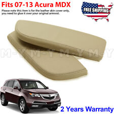 Fits 2007-2013 Acura MDX Leather Center Console Lid Armrest Cover Skin Beige Tan