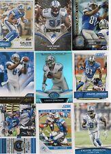 9-calvin johnson detroit lions card lot #4 nice mix