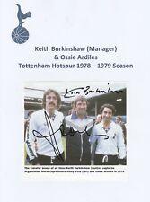 Keith burkinshaw & Ossie ARDILES Tottenham Hotspur ORIG firmato Rivista di taglio