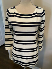 J.CREW Factory navy white striped boatneck top - Sz S - NWT