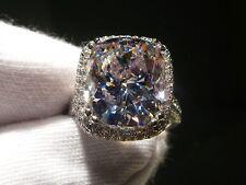 Eternity Lady Cushion cut 10Ct Diamonique Cz White Gold Filled Wedding Band Ring