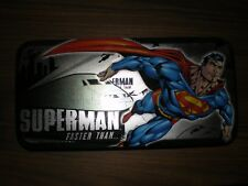 Vintage Superman Tin Pencil Case With Removable Compartment RARE Good Condition