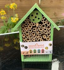 New Insect Bee House Bug Wooden Hotel Natural Wood Shelter Garden Nest Box