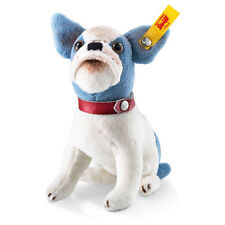 STEIFF Little Bully Bulldog EAN 031441 12cm Blue white plush gift New