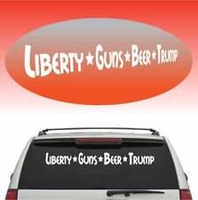 "Liberty Guns Beer Trump LGBT Cool Windshield Banner Auto Car Truck Decal 45"""