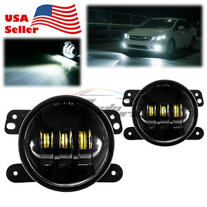 For 07-17 Jeep Wrangler 2-Door Round Lens LED Lamp Fog Light DRL Replacement F3