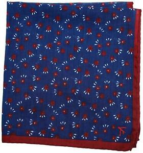 Isaia Pocket Square Blue Geometric 06PS0158 $140