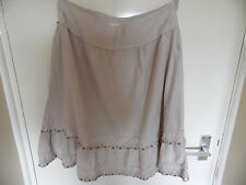 Ladies beige gypsey style beaded skirt from Evie in a size 12