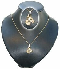 Kettenanhänger vergoldet Hunde Dobermann [k032]