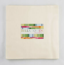 Moda Fabric Junior Layer Cake Bella Solids Ivory - Patchwork Quilting 10 Inch...