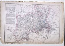 1864 Large Antique Map ~ Middlesex London Westminster West Drayton Harefield