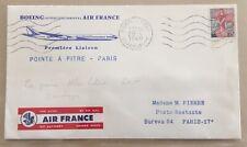 N° 1216 s/ Lettre 1° Liaison Pointe à Pitre Paris (Boeing) 20/06/1960