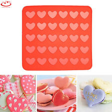 30 Hearts Silicone Pastry Cake Macaron Macaroon Cooking Mat Oven Baking Sheets