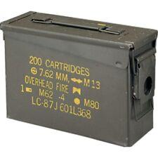 30 CAL Ammo Box Ex Army Steel Ammunition Box Fully Sealed Airtight 2nd Grade