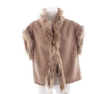 ** MARELLA ** Italy Weste Vest Jacke Fur Finn Raccoon Alpaka Mohair Gr.L