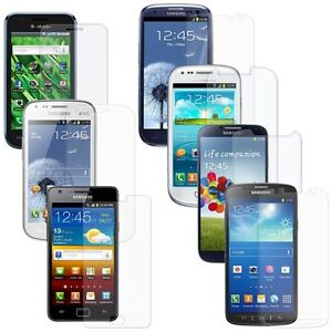 KRISTAL CLEAR SCREEN PROTECTOR GUARD SHIELD FILM FOR SAMSUNG GALAXY S SERIES
