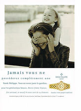 PUBLICITE ADVERTISING  1998   PATEK PHILIPPE   montres fini artisanal