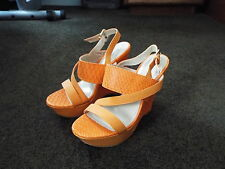 Bumper Orange Women Shoes --  New - 6.5 Wedge