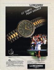 PUBLICITE ADVERTISING 054  1989  LONGINES  montres  GABRIELA SABATINI