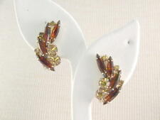 DandE Rhinestone Earrings Signed Madeleine vintage Jewerly