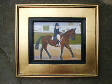 """Dressage Horsewoman Litchfield CT"" Original Oil on Canvas by Joan Marchell"