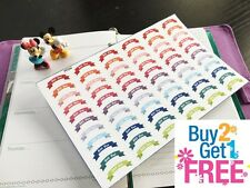 PP244 -- Small Bill Due Ribbon Life Planner Stickers for Erin Condren (66 pcs)