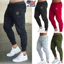 Mens Sport Pants Long Trousers Tracksuit Fitness Workout Joggers Gym Sweat Pants