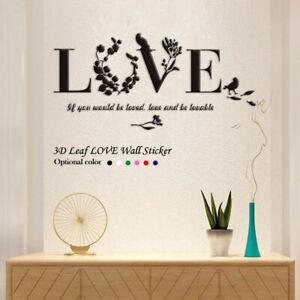 3D Wandtattoo Love Spiegel Wandaufkleber Acryl DIY Kunst Heim Dekoration
