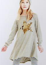 ELSY Girl trendiges Kleid GARDA mit Paillettenstern & Glitterfäden Gr.14/164 NEU