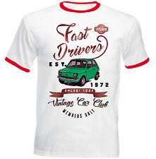 FIAT 126p MALUCH POLACCO VERDE DRIVER Veloci-T-shirt Cotone-Tutte le taglie in magazzino