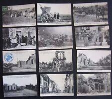 1914-15 LE GRANDE GUERRES lot 12 cartes postales première mondial France
