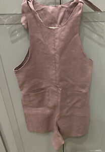 NWT: Mabo Girls linen romper size 12/13 in lavender