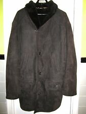 LAPS Brown Suede Shearling Coat L 44 US Italy 56 IT Mint & Spectacular!