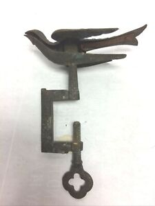 Antique Victorian Brass Sewing Bird C Clamp