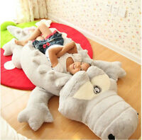 Large Crocodile Pillow Plush Soft Doll Stuffed Animal Kid Pet Toy Birthday Gift