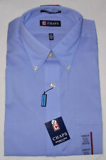 New Chaps Blue Dress Shirt Mens Size M 15-15 1/2 / 34/35 Wrinkle Free