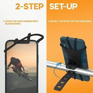 """Bike Phone Holder 4.5""""-6.7"""" Phone Holder For Bike Scooter Golf Pram Buggy UK NEW"""