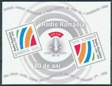 262287) Rumänien Block 439** 80 Jahre Radio Romania