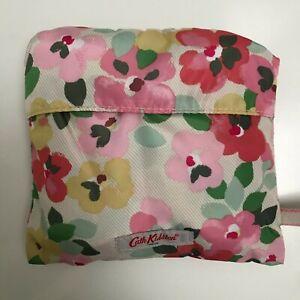 Cath Kidston large foldaway tote bag Painted Pansies floral multicoloured