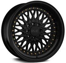XXR 536 17X9 Rims 5x100/114.3 +25 Black Wheels Fits 350z G35 240sx Rx8 Rx7