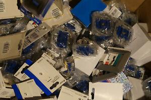4 kg Elektromaterial gemischt Kopp, DÜWI, REV Lichtschalter, Steckdosen