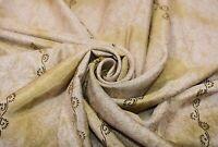 Vintage Crema Saree Puro Georgette Seda Estampado Sari 4.6m Manualidades Tela De
