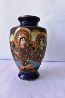 "Vintage Japanese Satsuma Style Vase Hand Painted Porcelain Decorative Collecti""F"