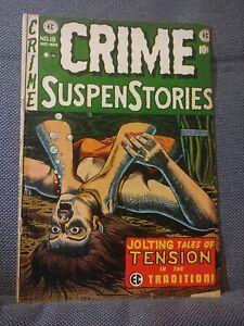 Crime SuspenStories 19 (10/53) Strangulation cover. Used in SOTI. G+