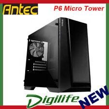 Antec P6 Tempered Glass Micro Tower Case; mATX; Mini- ITX; 2x USB 3.0 Front Port