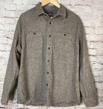 Grayers Heritage Flannel Shirt Gray Heather Cotton Mens XL