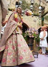 BOLLYWOOD DESIGNER ANUSHKA SHARMA WEDDING PINK DEISGNER LENGHA SEMI STITCH