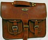 HLC Handmade Original Leather Shoulder Bag Messenger Satchel Laptop Handbag